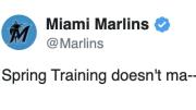 Miami Marlins Twitter celebrates 2-0 start in Spring Training