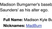 Madison Bumgarner's baseball reference endured a bizarre update