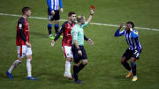 Tensions were high between Bournemouth and Sheffield Wednesday as both teams went down to ten men