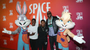 Bugs Bunny, Lola Bunny and some fans.