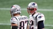 Former New England Patriots teammates Tom Brady and Rob Gronkowski