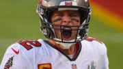 Tom Brady yelling.