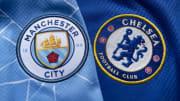 Gli stemmi di City e Chelsea