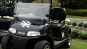 "Tom Brady's custom golf cart for ""The Match: Champions for Charity"""