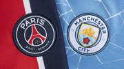 Les logos du PSG et de Manchester City
