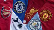 Ilustrasi klub enam besar Liga Inggris