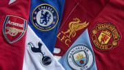 Ilustrasi logo enam klub besar Liga Inggris