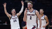 UCLA vs Gonzaga spread, line, odds, predictions and over/under for NCAA Tournament Final Four game on FanDuel Sportsbook.