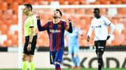Messi marcó dos goles contra el Valencia