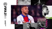 Kylian Mbappé en couverture du jeu FIFA 21.