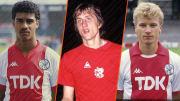 Frank Rijkaard, Johan Cruyff et Dennis bergkamp.