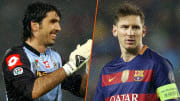 Gianluigi Buffon et Lionel Messi