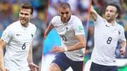 L'Équipe de France lors du succès face à la Suisse en Coupe du Monde 2014