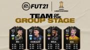 Cartas do FUT de jogadores destaques da fase de grupos da Libertadores 2021