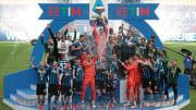 Inter celebrate their 2020/21 Serie A title triumph