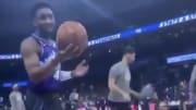 Utah Jazz G Donovan Mitchell jokes about coronavirus with fans.
