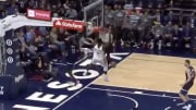 New Orleans Pelicans' Zion Williamson and Lonzo Ball connect for a sensational alley-oop.