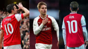 Arsenal Robin Van Persie, Emile Smith Rowe, Mesut Ozil