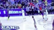 LeBron James followed up a Zion Williamson dunk with an insane shot of his own in Sunday's Lakers-Pelicans showdown.