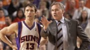 Mike D'Antoni y Nash en sus años en los Suns