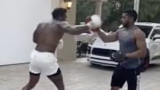 Aroldis Chapman appears to be gearing up for a heavyweight fight