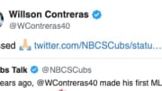 Willson Contreras will never forget his first at-bat with the Cubs.