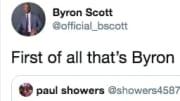 Former Los Angeles Laker Byron Scott on Twitter