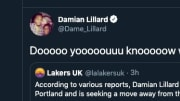 Damian Lillard left no room for interpretation when shutting down an April Fools' rumor that he wanted to be traded.