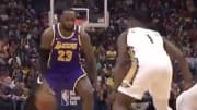 LeBron James toasts Zion Williamson in Lakers-Pelicans rematch