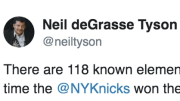 Neil deGrasse Tyson trolled the New York Knicks with a legendary Tweet.