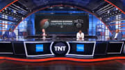 "Shaquille O'Neal, Ernie Johnson, Kenny Smith and Charles Barkley on ""Inside the NBA"""