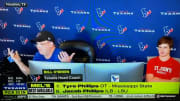 Bill O'Brien gets upset during the 2020 NFL Draft