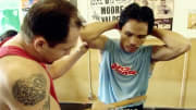World welterweight champion Manny Pacquiao's latest core strength workout is something to behold