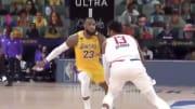 LeBron James mostró su impecable defensa en la jugada final