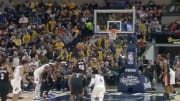 Carmelo Anthony at the free-throw line against the Indiana Pacers