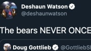Houston Texans QB Deshaun Watson bodied the Chicago Bears after claiming they didn't even talk to him prior to the 2017 Draft