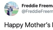 Atlanta Braves infielder Freddie Freeman on Twitter