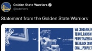 The Warriors issued the perfect statement following the George Floyd protests on Saturday.