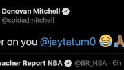 Donovan Mitchell joked about Jayson Tatum's reported contract extension.