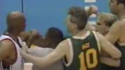 Charles Barkley and Shane Heal in 1996.