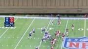 Tom Brady observando la remontada de Patriots ante Falcons