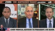 Dr. Fauci on First Take with Stephen A. Smith and Max Kellerman.