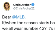 Pittsburgh Pirates pitcher Chris Archer on Twitter