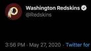 The Washington Redskins literally posted a blank tweet on Wednesday.