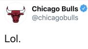 The Chicago Bulls were not in the mood to hear Michael Jordan slander
