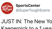 The internet thought Colin Kaepernick was going to the New York Jets