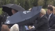 Boris Johnson and an umbrella.