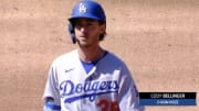 Cody Bellinger, realizing his home run was not a home run but kind of was