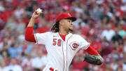 CINCINNATI, OHIO - JULY 24: Luis Castillo #58 of the Cincinnati Reds throws a pitch. (Photo by Andy Lyons/Getty Images)