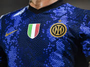 A detail shows the Scudetto on the new FC Internazionale...